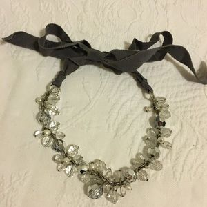 NWOT American eagle ribbon tie cluster necklace